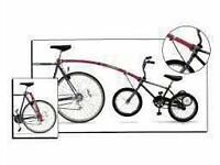 """Trailgator Tow Bar for 16""""-20"""" Wheel Bike- Red incl. seat post kit-used"""