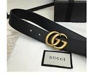 WOMENS GUCCI MARMONT LEATHER BELT WITH BOX - FREE POSTAGE