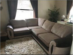 Corner couch and foot stool
