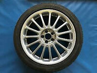 SET OF MGZT ROVER 75 7.5 X 18 STRAIGHTS ALL GOOD + 225 45 X 18 MAXIS TYRES ALMOST NEW 5 x 100 mm