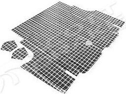 1964 1965 1966 ford mustang boot mat plaid coupe for 1966 ford mustang floor mats