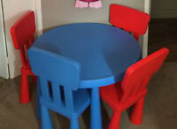 Ikea mammut Series table & chairs all for $80- in Vernon