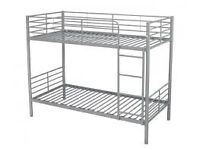 Matel bunk bed set in either white or silver FREE DELIVERY