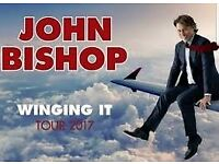 x2 John Bishop (front rows) 'Winging It' Tickets Bham 23rd March 18. £100 onvo!