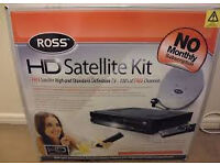 FREESAT- Receiver & Dish.. Ross Hdr-6110usb COMPLETE! Boxed with instructions.