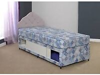 Brand New Comfy Single Storage Divan Bed set with Full Storage Area FREE delivery