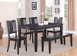 ISO black dining table
