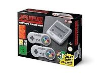 SUPER NINTENDO ENTERTAINMENT SYSTEM SNES MINI BRAND NEW AND SEALED BNIB