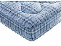 Brand New Comfy Padded spring Double Mattress in Blue FREE delivery
