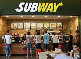Priced To Sell Be Quick! -Subway Under 150k - Inner West Location Wareemba Canada Bay Area Preview