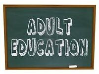 Adult Education Classes: STARTING NEXT WEEK...from £15 for 10 week course