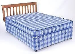 Brand New Comfy Double Bed set in Blue Fabric FREE delivery Comfy Bed