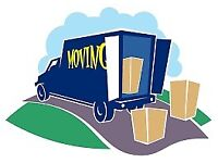 24-7 MAN AND VAN HIRE WITH A HOUSE REMOVALS DELIVERY SERVICE BIG LUTON VANS & TRUCK WITH PIANO MOVER