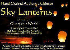 Sky Lanterns  **AWESOME**