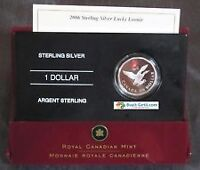 2006 STERLING SILVER LUCKY LOONIE - COLOURIZED CANADIAN 1-DOLLAR
