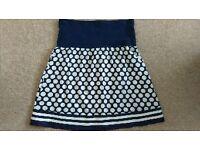 Jojo Maman Bebe Navy/White Maternity Skirt - Size 8
