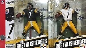 MCFARLANE NFL ROETHLISBERGER STEELERS SET OF TWO