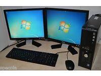 Dell dual screen PC.
