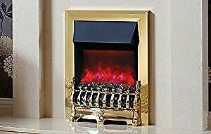 Be Modern Camberley brass model electric fire