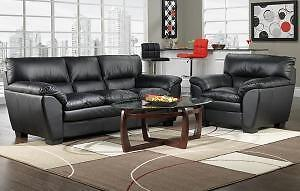 100% GENUINE LEATHER 2PC SOFA SET INCLUDES SOFA AND CHAIR $2,049.00SAVE $1,150