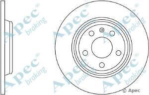 Apec Braking OE Quality Replacement Single Brake Disc Disk - DSK2540