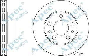 Apec Braking OE Quality Replacement Single Brake Disc Disk - DSK2482