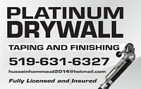 PLATINUM DRYWALL TAPING AND FINISHING