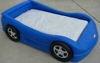 Little Tikes Race Car Bed - Blue - Toddler