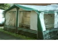 CARAVAN AWNING WITH HIGH TOP ANNEX