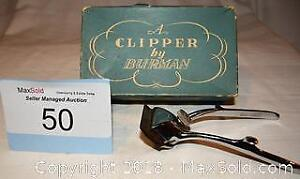 HAIR CLIPPERS by Bruman. Made in England with box