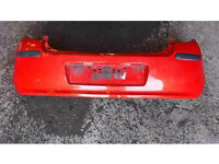 RENAULT CLIO MK3 2005-2009 REAR BUMPER RED TED75