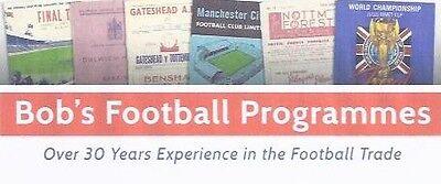 BOBS FOOTBALL PROGRAMMES
