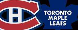MAPLE LEAFS VS CANADIENS IN MONTREAL ON OCTOBER 29TH AND MORE!!!