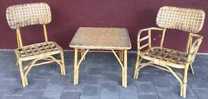 Outdoor Alfresco cane coffee table and 2 chairs  2 chairs Kewdale Belmont Area Preview