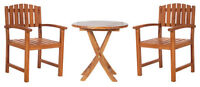 Teak Dining Chairs with Side Table - TS26-TD20x2-M24