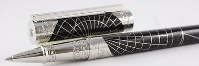 ST DUPONT SHOOT THE MOON PREMIUM ROLLERBALL PEN LIMITED EDITION BLACK LACQUER PA