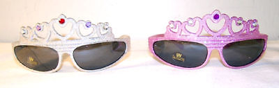 6 PAIR GLITTER TIARA SUNGLASSES crown UVprotect - Tiara Sonnenbrille