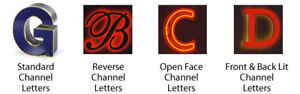 Signs - LED Channel Letters - Banners