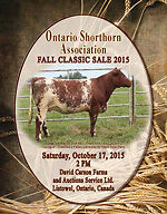 Ontario Shorthorn Assocation Fall Classic Sale