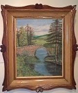 Beautiful Oil Painting of Poldullie Bridge, Strathdon Aberdeen