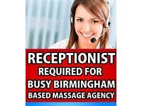 Receptionist Required