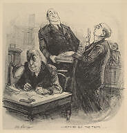 """""""Nothing but the Truth"""" Courtroom LITHO PRINT 1940s-1950s Peterborough Peterborough Area image 3"""