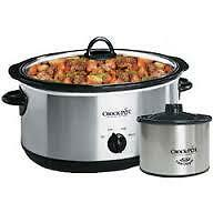 STAINLESS STEEL CROCK POT WITH LITTLE DIPPER 4 SALE ASAP