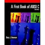 BRAND-NEW: A First Book of ANSI C - 3rd Edition (Softcover) Kingston Kingston Area image 1
