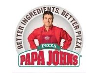 Papa Johns Isleworth looking for Motorcycle / Cars Delivery Drivers With Immediate Start...!