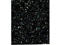 Kitchen Worktops laminate black sparkle gloss.
