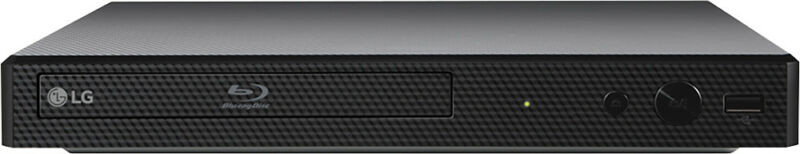 LG - Streaming Wi-Fi Built-In Blu-ray Player Black BP350