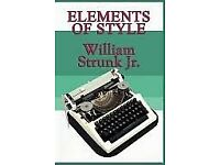 Elements of Style book by William Strunk Jr.