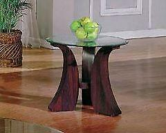 "26"" End Table - Glass Top"