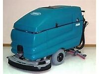 walk behind scrubber dryer with pads and charger